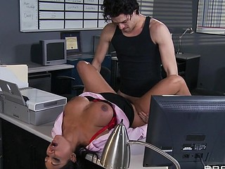 Priya and Xander are one as well as the other fighting for the same position at Glubbert Financial. The One And The Other are equally qualified, equally ambitious and thus, equally abhor each other as result. In a battle of wits, billibongs and dicks the two proceed to fuck each others brains out all over the office in order to settle the score, one time and for all. Who will tally out triumphant?